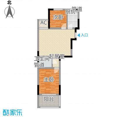 外海蝶泉山庄别墅84.16㎡E8户型2室2厅1卫