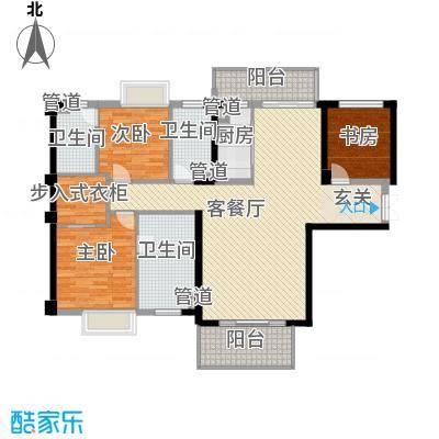 中骏天誉164.00㎡6#03、8#01户型3室2厅3卫1厨