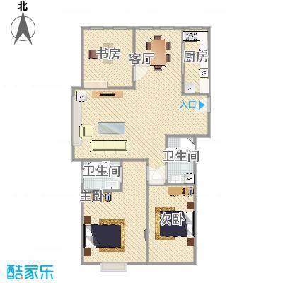 广阳-格林郡府115平米三居室