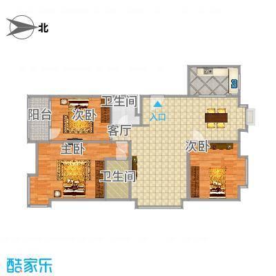 安次-阳光逸墅120平米三居室