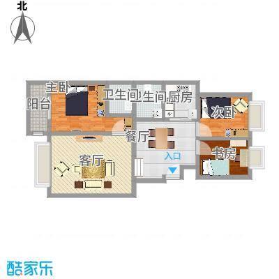 安次-蓝波湾103平米三居室