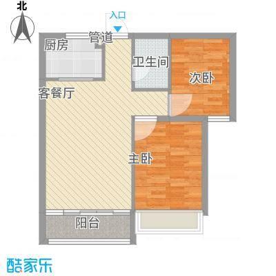 主语城86.00㎡B户型2室2厅1卫