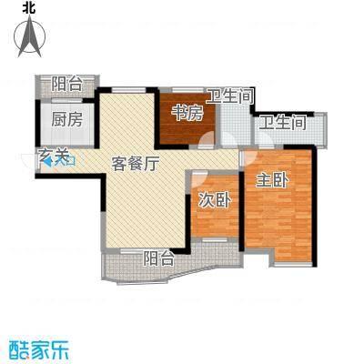 同人・怡和园一期15#楼标准层C2户型