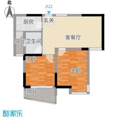 同人・怡和园一期4、11#楼标准层A2户型