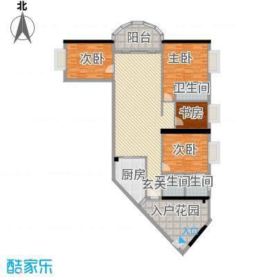 五邑锦绣豪庭163.10㎡3幢E标准层户型