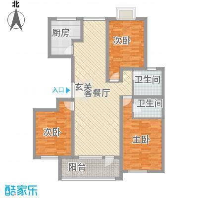 英伦花园高层5户型3室2厅2卫1厨