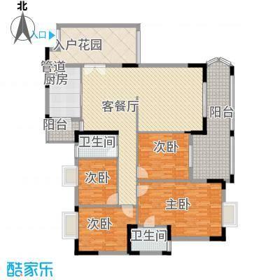 银信花园158.58㎡E户型4室2厅2卫1厨