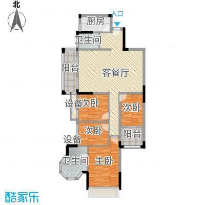 风度广场128.45㎡16座05、06单位户型4室2厅2卫1厨