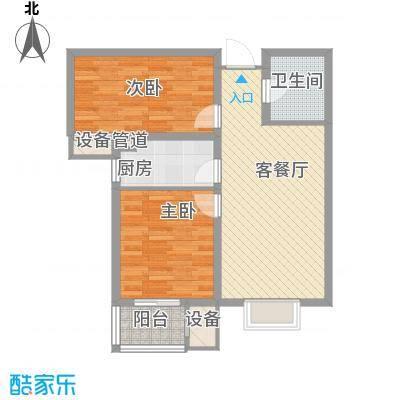 升达置地广场81.57㎡G户型2室2厅1卫
