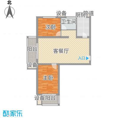 升达置地广场1.40㎡F户型2室2厅1卫