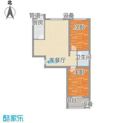 升达置地广场6.70㎡M户型2室2厅1卫