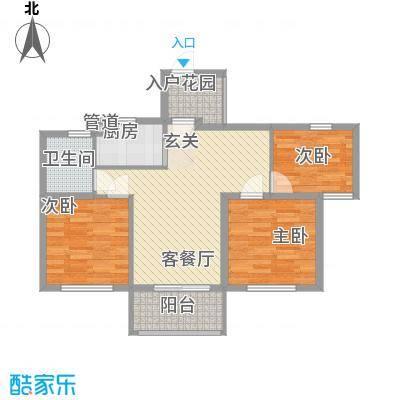 云峰苑3#楼E2偶数层户型