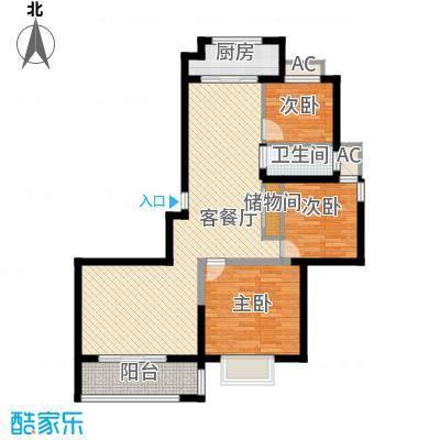 博奥东苑16.24㎡一期2号、3号楼标准层C-5户型3室2厅1卫1厨