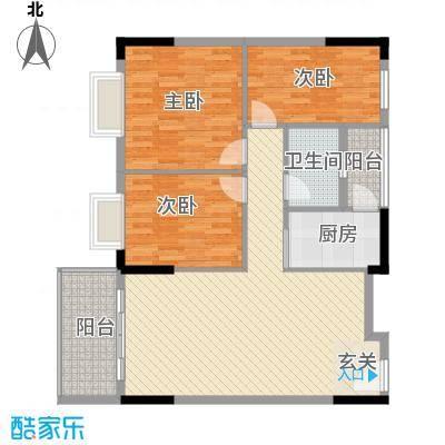东汇家园9栋3-11层02户型3室2厅1卫1厨
