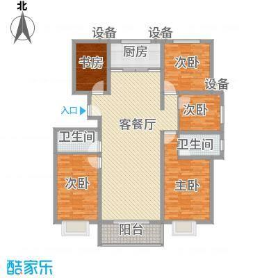 升达置地广场155.40㎡SE户型5室2厅2卫1厨