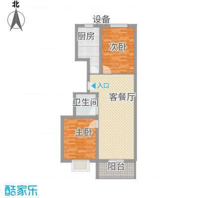 升达置地广场6.52㎡DB1户型2室2厅1卫1厨