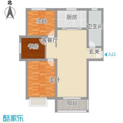 大顺花园C户型3室2厅1卫