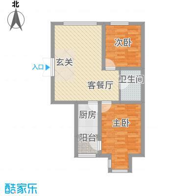 渤海玉园82.57㎡C户型2室1厅1卫