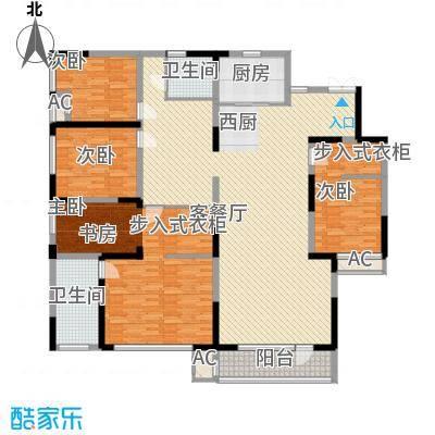 国耀紫溪别墅22.00㎡观邸大平层C1户型4室3厅2卫1厨