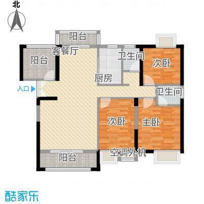 角美领秀御园126.00㎡J户型3室2厅2卫