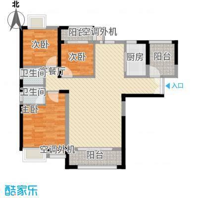 角美领秀御园15.00㎡F户型3室2厅2卫