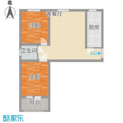 龙城半岛三期2.55㎡D户型2室2厅1卫1厨
