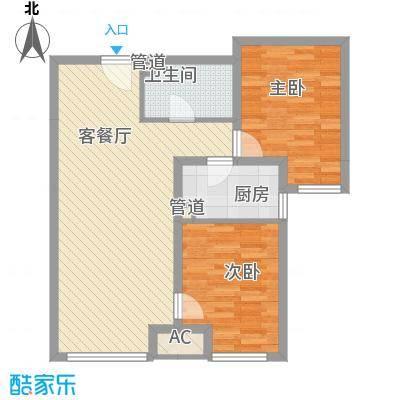 首尔甜城84.00㎡一期B17户型2室2厅1卫1厨