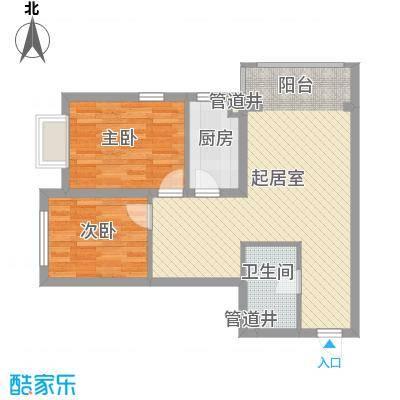 松浦观江国际74.78㎡O户型2室2厅1卫1厨