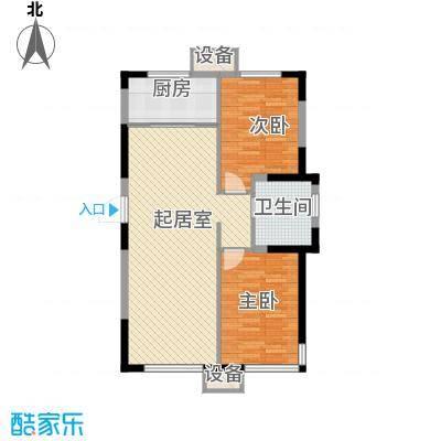 城建世纪佳园A户型2室2厅1卫1厨