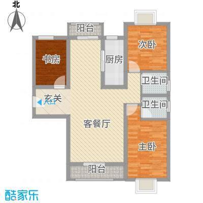 万水澜庭(西区)14.35㎡万水澜庭3号楼C户型3室2厅2卫1厨