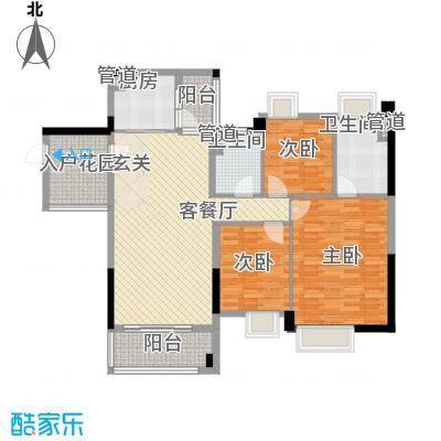 望龙轩1-2栋标准层04户型