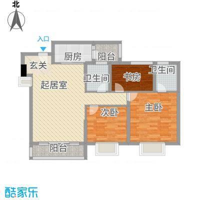 顺景半山豪苑方正户型3室2厅2卫