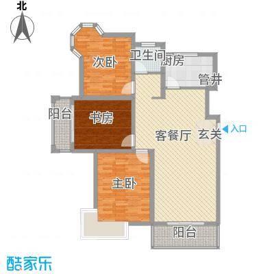 大桥新城11.36㎡5、6、7#楼高层M户型3室2厅1卫1厨