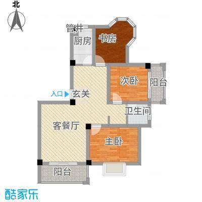 大桥新城8.60㎡1#、3#楼高层A户型3室2厅1卫1厨