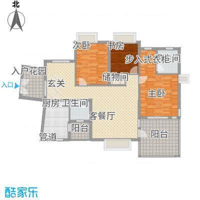 金龙国际花园134.77㎡三期天鹅堡43#-1奇偶层-1户型3室2厅2卫1厨