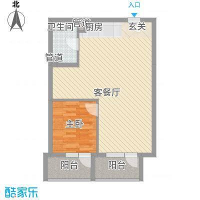 澳景蓝湾65.50㎡4号楼C反户型