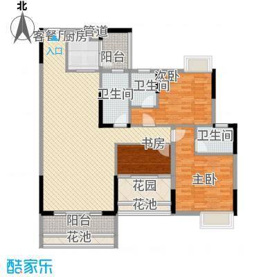 乐雅苑135.00㎡一期6幢03户型3室2厅3卫1厨