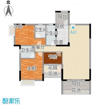 乐雅苑135.00㎡一期6幢04户型3室2厅3卫1厨