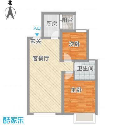 金科股份廊桥水乡82.42㎡A、A1、A户型2室2厅1卫1厨