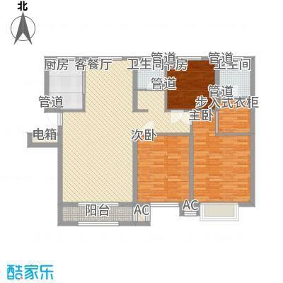 中冶蓝城7号楼C12户型