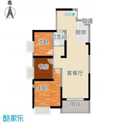 诚杰壹中心15.00㎡C2户型3室2厅1卫1厨