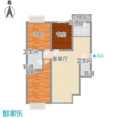 长乐湾135.80㎡R户型3室2厅2卫1厨