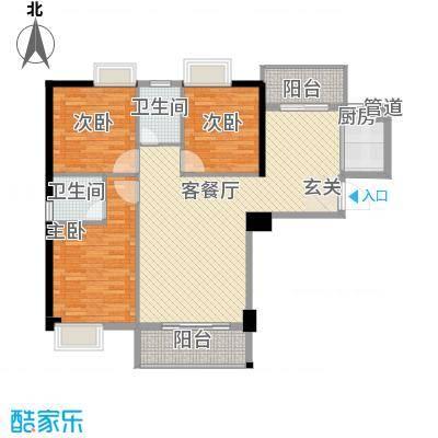 星河城市广场3.72㎡奢适户型3室2厅2卫1厨
