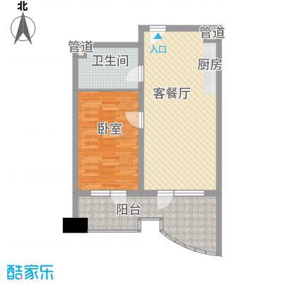 御庭春MOM∧白金海岸公寓7.65㎡E-户型1室1厅1卫