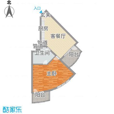 御庭春MOM∧白金海岸公寓8.22㎡A-户型2室1厅1卫