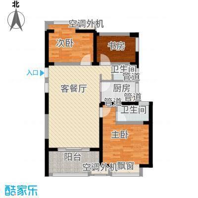 招商花园城一期高层1#、3#、5#、6#标准层C户型