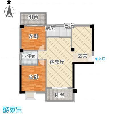 福泰海湾新城D1D3户型3室2厅1卫1厨