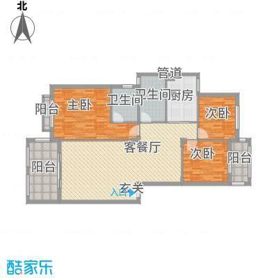 金龙国际花园127.41㎡32号楼2单元2层1号户型3室2厅2卫1厨