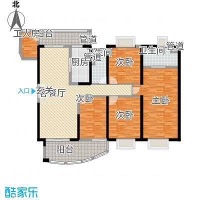 中海金沙熙岸15.00㎡清澜水境3座29-33层01户型4室2厅2卫