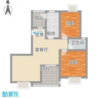 曲江明珠12#D户型3室2厅1卫1厨